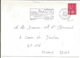 FLAMME DE MEAUX SEINE ET MARNE 1978 - Oblitérations Mécaniques (flammes)