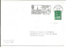 1 ER JOUR FLAMME DE BERLAIMONT  NORD 1975 - Marcophilie (Lettres)