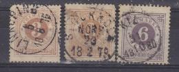 Sweden 1872/1886 Defintives 3v Used (33317) - Suède
