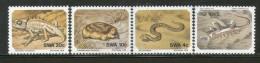 South West Africa 1978 Snake Scorpion Desert Reptile Wildlife Sc 411-4 MNH # 4306 - Snakes