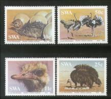 South West Africa 1985 Ostrich Flightless Birds Wildlife Sc 536-39 MNH # 1420