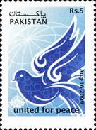 2009 Pakistan United For Peace, Symbolic Dove, Pakistan TV Logo, Telecom (1v) MNH (PK-86)