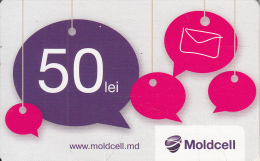 MOLDOVA - Moldcell Prepaid Card 50 Lei, Used