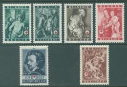 BELGIQUE - 1944 - MNH/***- LUXE - CROIX ROUGE RODE KRUIS VAN DYCK - COB 647-652  Lot 14717 - Belgique