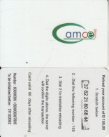 GAMBIA - Amcel Prepaid Card D150, Exp.date 31/12/02, Used
