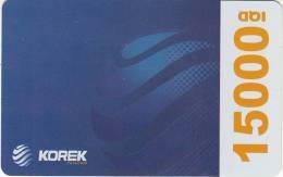 KURDISTAN(North IRAQ) - Korek Telecom Prepaid Card 15000 IQD, Used