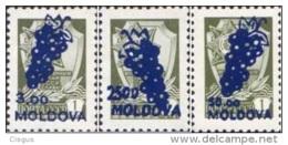 Moldova Moldawien 1994 MNH ** Mi. Nr. 98-100 I Standard Overprint - Moldavië