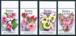 1994 Sierra Leone Orchidee Orchids Orchidèes Fiori Flowers Blumen Fleurs Set MNH** Sie78 - Sierra Leone (1961-...)