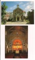 >> 64 -  BIARRITZ : La Chapelle Impériale De N.D. De Guadalupe - 2 Cp: Vue Extérieure  Et Intérieur - - Biarritz