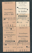 SWITZERLAND QY2836 4 Fahrkarte 1989 Kreuzlingen St Gallen Tagerwilen Zurich - Chemins De Fer