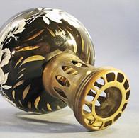 ~ LAMPE BERGER REVOL EN PORCELAINE NOIRE & OR # Parfum - Cerámica Y Alfarerías