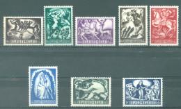 BELGIQUE - 1944 - MNH/***- LUXE - ANTITUBERCULEUX  BICHE UILENSPIEGEL DOUDOU CHEVAL CARTE - COB 653 - 660 -  Lot 14718 - Belgique