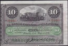 1896-BK-106 ESPAÑA SPAIN CUBA. 1896. 10$ PLATA. XF - Cuba