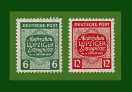 """SOWJETISCHE ZONE SBZ 1945 Mi.-Nr.  124 Y- 125 Y Postfrisch ** """"Musterschau Leipziger Erz""""    (SBZ48) - Zone Soviétique"""