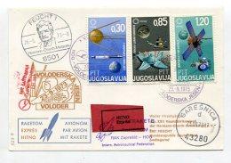 Raumfahrt / 1973 / Raketenpost-Beleg Per Express (68051) - Europe