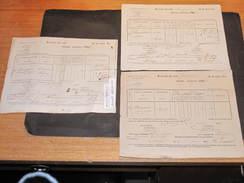 BOVIGNY - 1837/65/62 - 3 Taxes Sur Chiens De Beaupain Henri Cultivateur à Rogery. Signatures Du Garde Champêtre .... - Documents Historiques