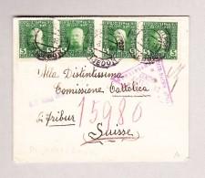Bosnien U Herzegowina KuK PRIJEDOR 8-2-1918 Zensur Brief Nach Fribourg CH - Levante-Marken