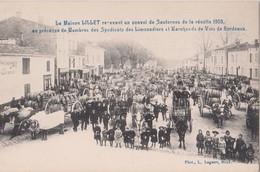 MAISON LILLET RECEVANT UN CONVOI DE SAUTERNES - RECOLTE 1903 - CAFE RESTAURANT DE L'AVENIR - Langon