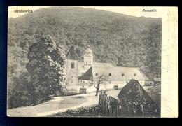 Orahovica Monastir (monastery) / Censorship Cancel / Postcard Circulated, 2 Scans - Croatia