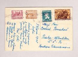 Bulgarien Sofia 7-?-1948 Ansichtskarte Nach Prag - Covers & Documents
