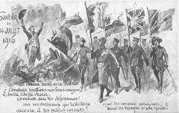 Thème CARICATURE - SATIRIQUE - EVENEMENTS POLITIQUE / Carte Illustrée - Souvenir Du 14 Juillet 1906 - Eventos