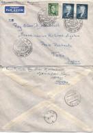Norway  1957 First Flight Copenhagen - Tokio Via North Pole, Registered Letter Mi 396 And 405 Pair Cover - Norway