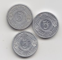 @Y@    Nederlandse Antillen   5 Ct  1998 / 2008 / 2009    (3474) - Nederlandse Antillen