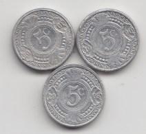 @Y@    Nederlandse Antillen   5 Ct  1990 / 2001 / 2003    (3475) - Nederlandse Antillen