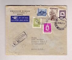 Bulgarien Sofia 26-8-1947 Poste Aerienne R-Brief Nach Burgdorf - Covers & Documents