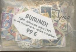 INCROYABLE  1000 Différents Majorité En Séries Complètes Ø - Burundi