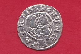Hongrie - Rudolf 1er - 1 Denar Argent - 1589 - Hongrie
