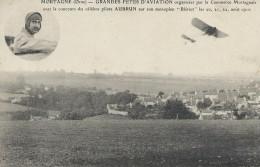 61 Mortagne Orne  Grande Fêtes D'aviation Pilote Aubrun Monoplan Blériot Août 1910 TBE - Mortagne Au Perche