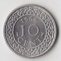 @Y@    Suriname  10   Cent   1966    (3482) - Suriname 1975 - ...