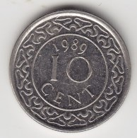 @Y@    Suriname  10   Cent   1989    (3483) - Surinam 1975 - ...