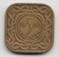 @Y@    Suriname  5   Cent   1966    (3484) - Surinam 1975 - ...