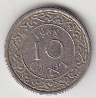 @Y@    Suriname  10 Cent 1988    (3487) - Surinam 1975 - ...