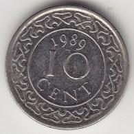 @Y@    Suriname  10 Cent 1989    (3488) - Suriname 1975 - ...