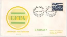 COVER EUROPEAN FREE TRADE ASSICIATION KOBENHAVN DENMARK 1967 - FDC