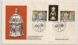 COVER CYPRUS FIRST DAY . RELIGION. 1982. - Chypre (République)