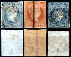 Antille-Spagnole-001 - Valori Emessi Dal 1855 Al 1857 (o) Obliterated - Privi Di Difetti Occulti. - Antillen