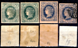 Antille-Spagnole-002 - Valori Emessi Dal 1864 Al 1866 (+/o) Hinged/Obliterated - Privi Di Difetti Occulti. - Antille