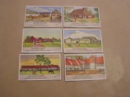 OUDE HOEVEN IN BELGIE Vieilles Fermes De Belgique  Liebig Série Reeks 6 Chromos Trading Cards Chromo - Liebig