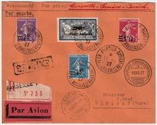 """1927, 5 Fr. """" Poste Aerienne """" Sur Lettre Avion , #6410 - France"""