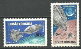 RUMANIA 1969 Mi:RO 2779/80, Yt:RO PA219/20, Rom:RO 702aB** - Aéreo