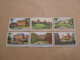 OUDE WONINGEN IN MUSEA HERSCHAPEN Vieilles Demeures Maisons  Liebig Série Reeks 6 Chromos Trading Cards Chromo - Liebig