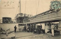 "CUIRASSE ""l'Amiral Trahouart""; Le Pont. - Guerre"
