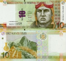 PERU       10 Nuevos Soles       P-187       17.1.2013       UNC - Pérou