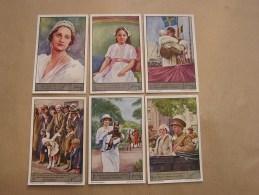 HET LEVEN VAN KONINGEN ASTRID 1 - 6 Reine Astrid Belgique Liebig Série Reeks 6 Chromos Trading Cards Chromo - Liebig