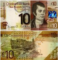SCOTLAND - CB     10 Pounds       P-229J       25.1.2009       UNC - [ 3] Scotland