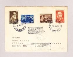 Bulgarien PLOVDIV 28-10-1948 Flugpost R-Brief Mit Ankunfts-Stempel Zürich HB Fächer - 1945-59 République Populaire